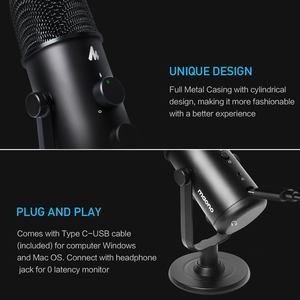 Image 3 - MAONO USB Microphone Professional Condender Microphone Omnidirectional Studio Microphone Computer Mic For Youtube Podcast Gaming
