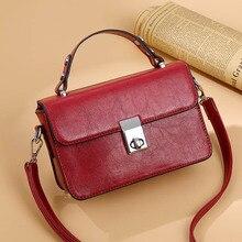 Mododiino Oil Wax Leather Flap Bag Women Vintage Crossbody Mini Female Handbag Eisure Shoulder Messenger DNV1212