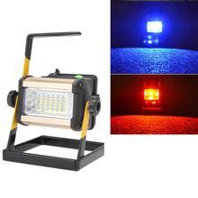Перезаряжаемые 50 Вт 2400LM светодиодный US прожектор Портативный прожектор Водонепроницаемый IP65 50 Вт 2400LM 36 светодиодный 3-режимный напольный светильник