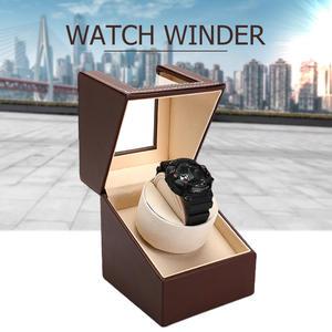 Автоматический мотор часы шейкер Часы Winder чехол держатель дисплей автоматические механические черный кофе часы держатель Органайзер США ...
