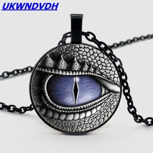 Dragon Eye Necklace, Bump Glass Round Fashion Pendant Punk Style Personality Necklace