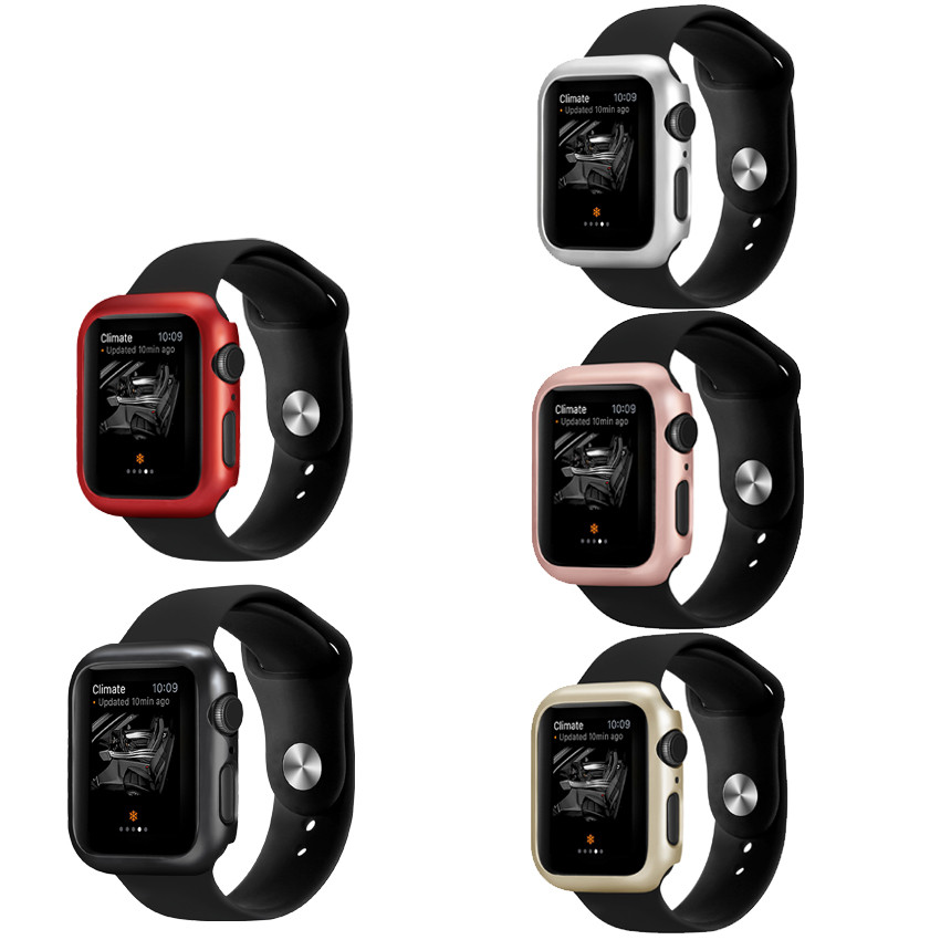 Case For Apple Watch 4 5/3/2/1 40mm 44mm Paint Border PC Cases For IWatch Series 3 2 42mm 38mm