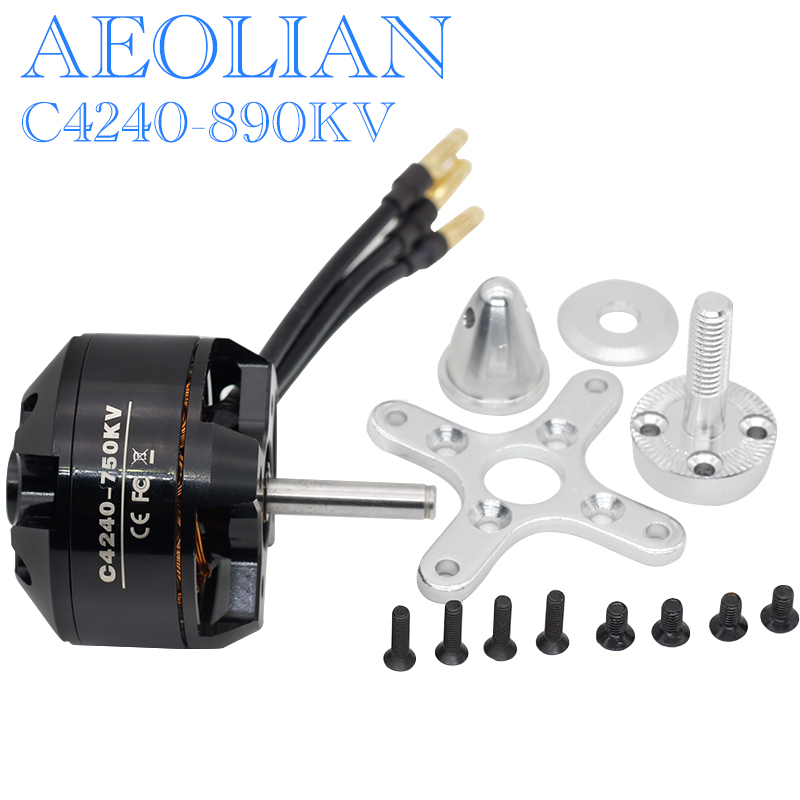 4240 890KV 5mm shaft ourtunner brsuhless electric aeolian motor for RC airplane glider image