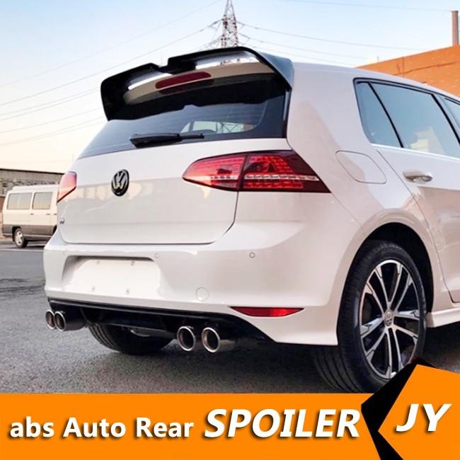 Para Volkswagen GOLF Spoiler 2014-2018 GOLF 7.5 R G TI MK7 GTD Material ABS Asa Traseira Do Carro spoiler cor Primer Spoiler Traseiro