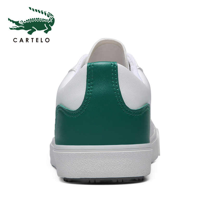 كارتيلو 2020 جديد حذاء كاجوال جلد رجالي حذاء مسطح برباط علوي منخفض أحذية رياضية تنيس Masculino