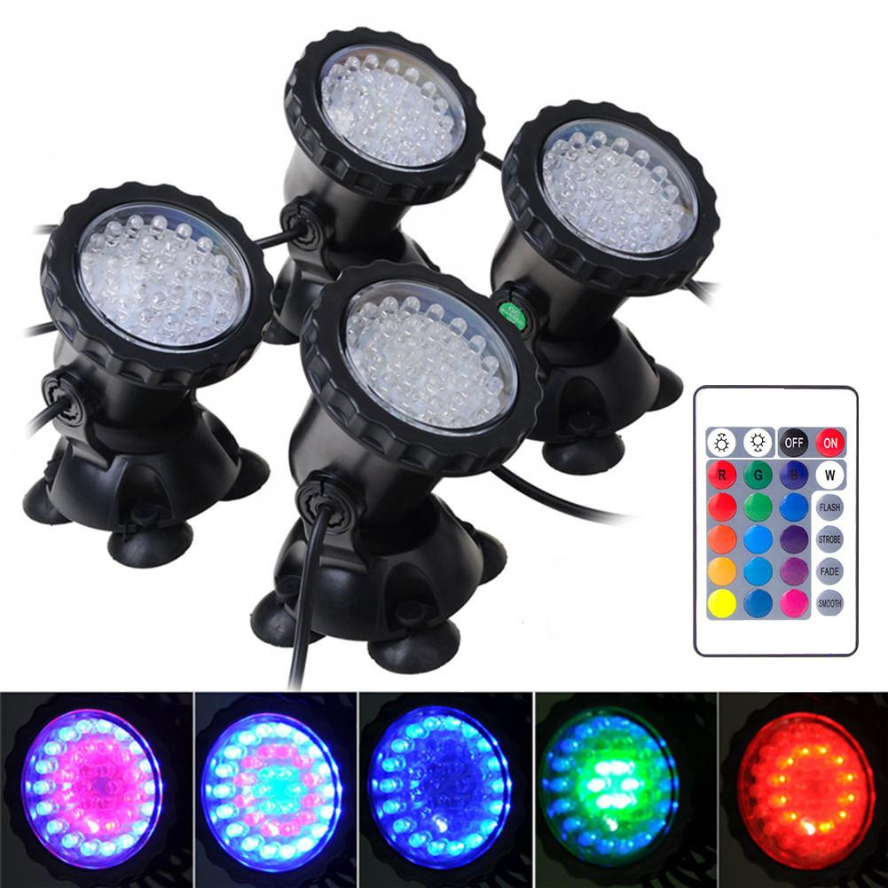 LED pour Aquarium éclairage Spot lampe RGB sous-marine Spot lumière 36 LED s IP68 étanche Aquarium Aquarium Aquarium éclairage Aquarium lumière nouveau