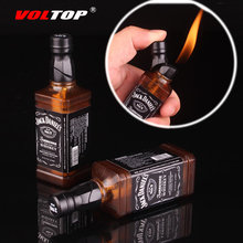 (No Gas) Jack Daniels Car Keychain Cigarette Lighter Accessories Inflatable Lighter Key Chain Mini Practical Key Ring