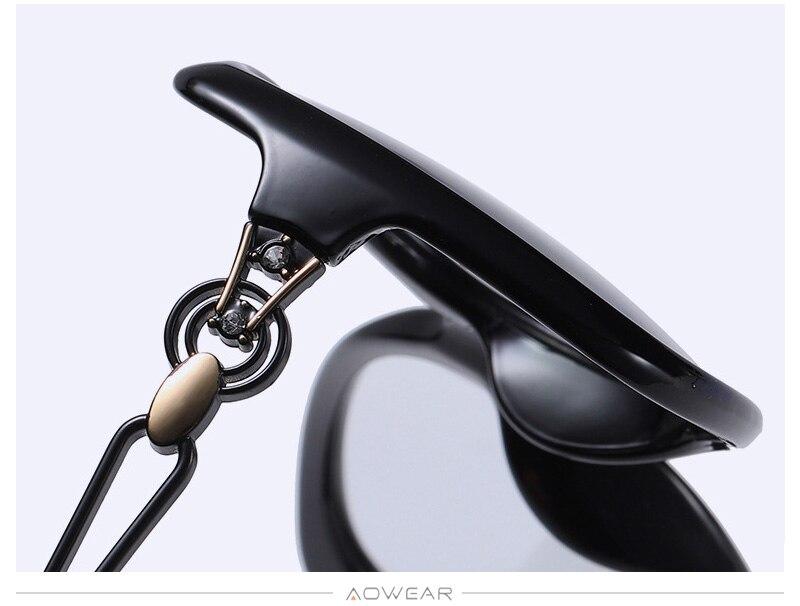 Shades Retro Female Eyewear Sun Lady AOWEAR Polarized Brand Women For Glasses Gradient Sunglasses Womens Oversized Luxury 2020