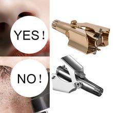 Nariz aparador de pêlos orelha portátil vibrissa navalha manual do cortador de rhinothrix nariz nasal shaver lavável tragi tesoura