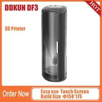 DDKUN DF3 3D Printer for beginner or Child Dia.150*175 Upgrade Desktop Touch Screen Impresora 3d Metal Frame Single Extruder