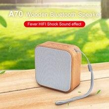 Altavoz Bluetooth portátil de madera Vintage Mini altavoz inalámbrico con micrófono compatible con tarjeta TF para teléfono móvil