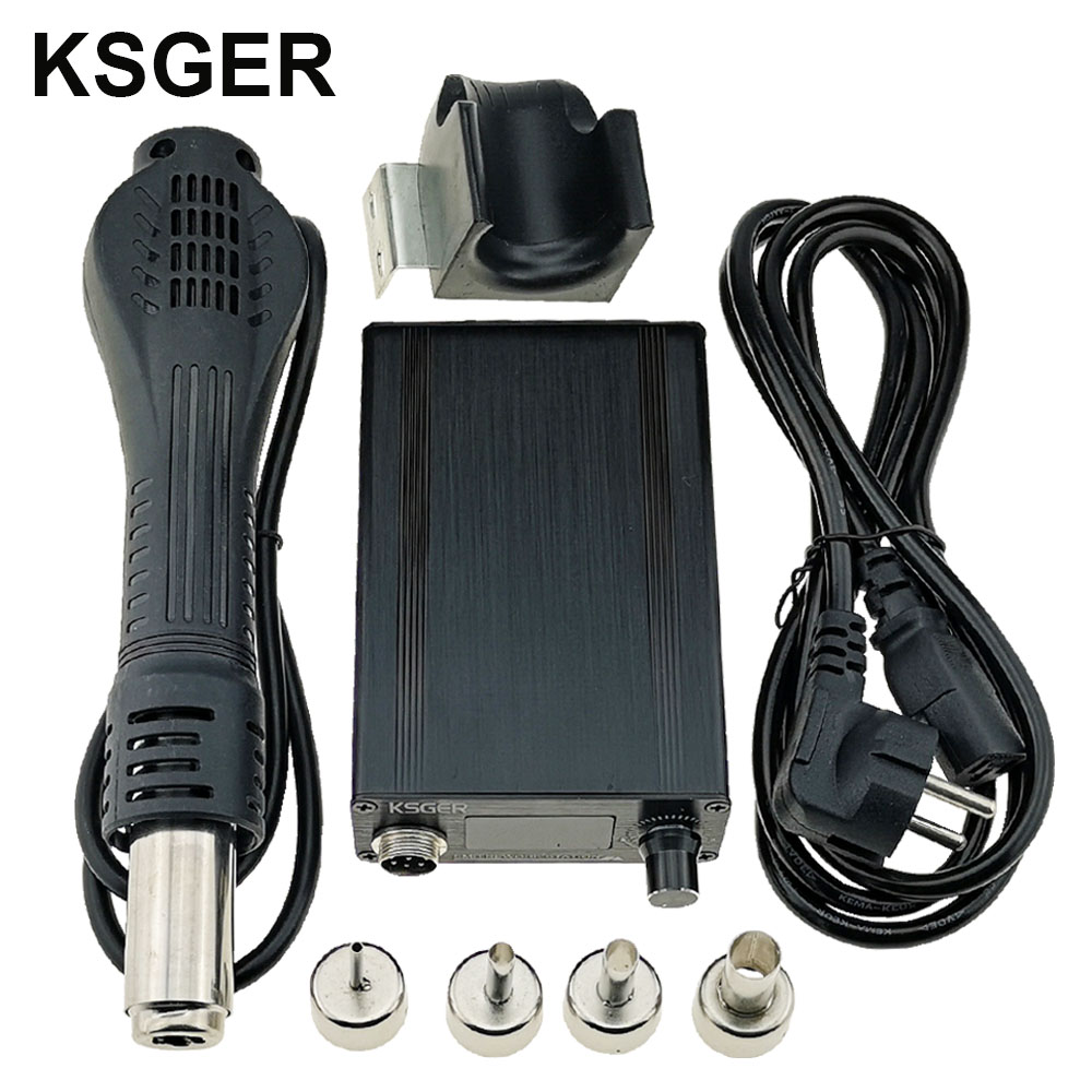 KSGER Hot Air Gun SMD Rework Station GX16 8 Solder Dryer Handle Electronic OLED T12 Nozzle Stand DIY Tools Quick Heating 700WElectric Soldering Irons   - AliExpress