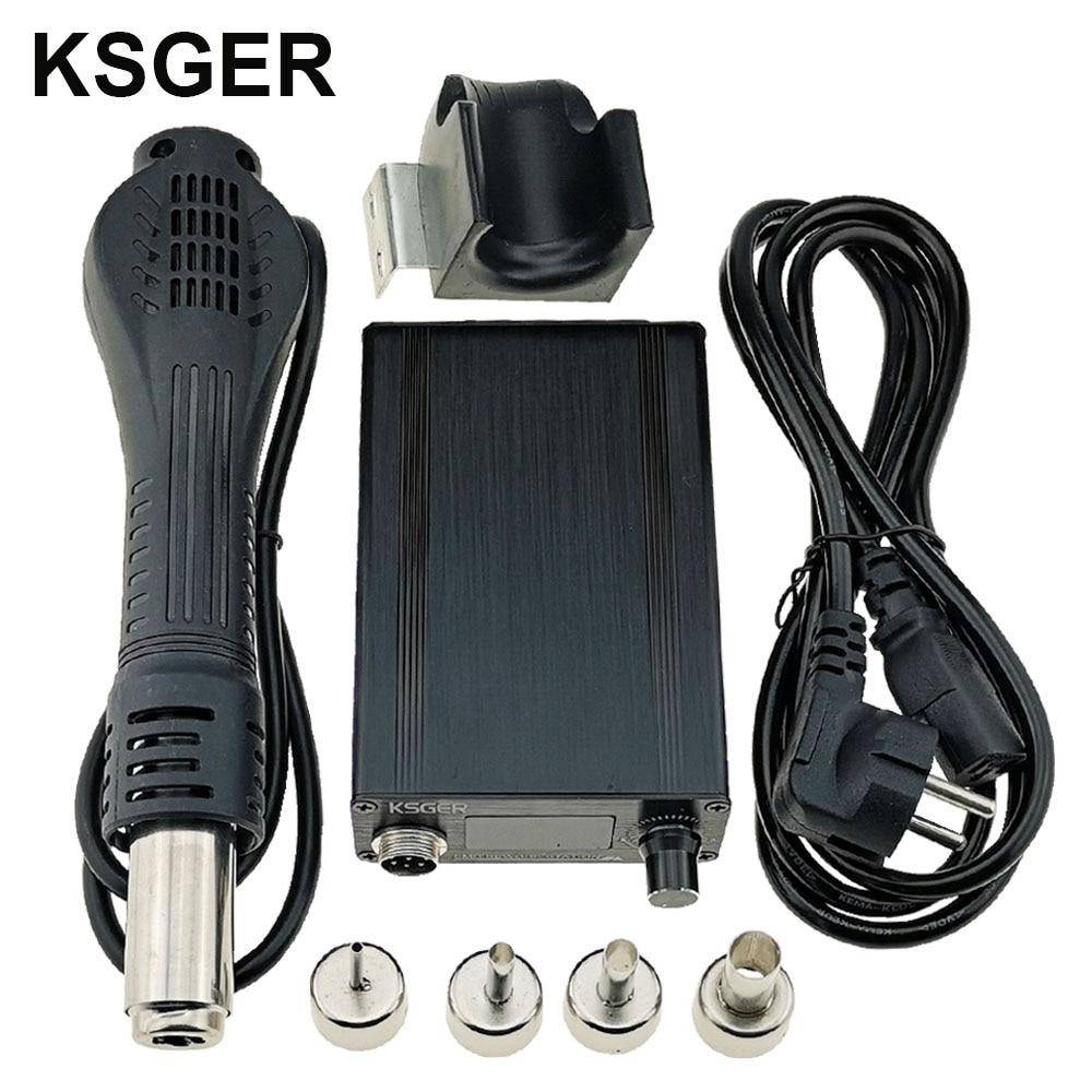 KSGER пистолет горячего воздуха SMD паяльная станция с ручкой для сушки припоя, электронный OLED T12 подставка для сопла DIY Инструменты Быстрый наг...