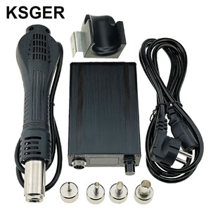 Image 1 - KSGER Hot Air Gun SMD Rework Station GX16 8 Solder Dryer Handle Electronic OLED T12 Nozzle Stand DIY Tools Quick Heating 700W