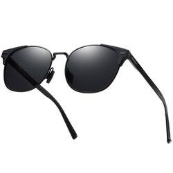 Polarisierte Rezept Sonnenbrille Für Männer Legierung Material Myopie Nachtsicht UV400 Schutz