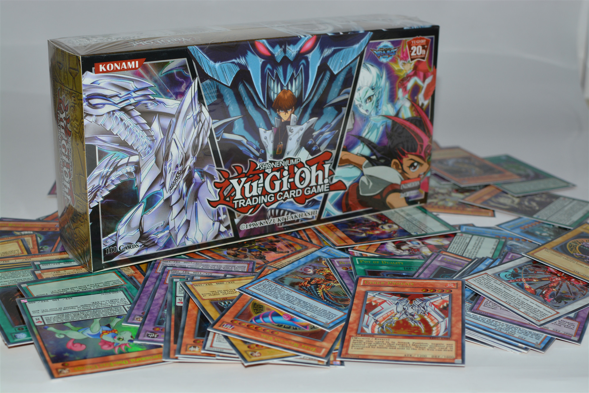 Yu gi oh 100 piece set box holographic card yu gi oh anime game collection card children boy children's toys 2