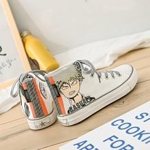 Canvas Shoe Woman Doodle Cartoon Comic High Help Printing Ulzzang Tide Student Personality Joker Shoes