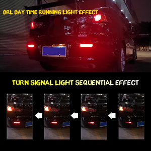 Image 4 - Ijdm Full Led Bumper Reflector Verlichting Voor Mitsubishi Lancer Evo X Outlander, Voor Remlicht/, knipperlichten & Mistachterlichten