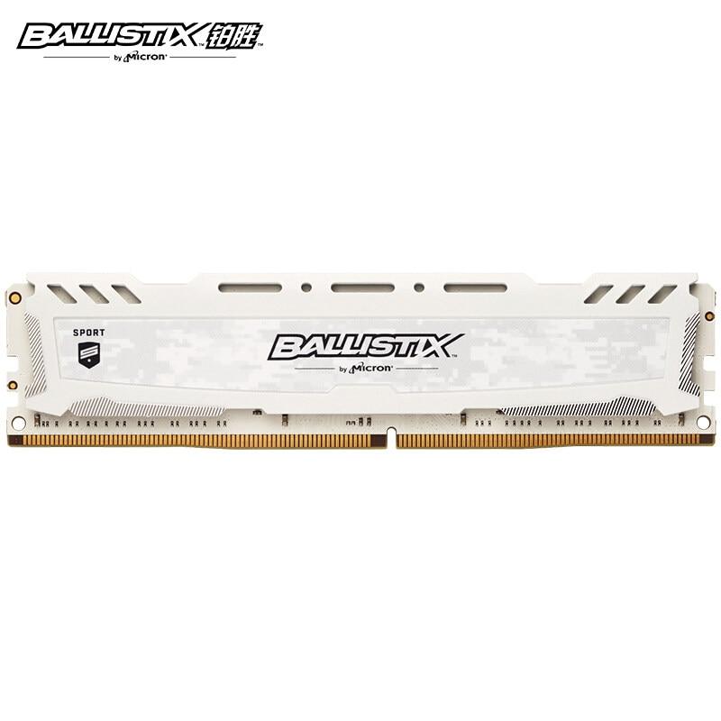 Спортивная память Ballistix Sport platinum DDR4 4 ГБ 8 ГБ 16 ГБ 32 ГБ 2400 МГц 2666 МГц 3000 МГц 3200 МГц MT/s 288 для игр