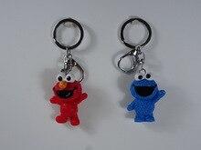 Lovely Anime Sesame Street Keyring Cookie Monster Keychain Cute KeyChain Bag Pendant for Girls Toy Men