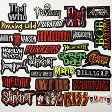 A Rock band Heavy Metal Band banner Patch Badges Embroidered Applique Sewing Iron On Badge Clothes Garment Apparel Accessories