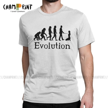 Men's BDSM Dominant Evolution T Shirt Submissive Slave Play Sexy Sub Pure Cotton Clothes Casual Round Neck Tees Printing T-Shirt - discount item  40% OFF Tops & Tees
