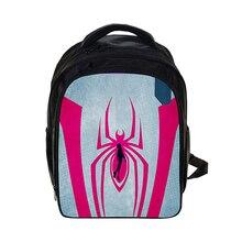 Men Backpack 3D Printed Spiderman Cartoon Comics Super Hero Movie School Bags Book Knapsack For Kids Child Children Boy Gril