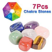 7 peças chakra natural caiu pedra preciosa rocha mineral irregular cristal polonês cura meditação para feng shui decoração