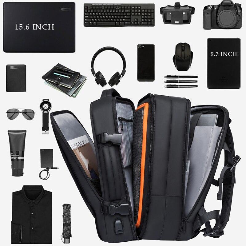 Bange mode homme sac à dos étanche 15.6 pouces ordinateur portable USB Recharge sac à dos multi-couche haute capacité voyage homme sac à dos - 2