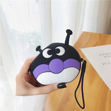 Kawaii Cartoon Baikinman Women Wallets Silicone Small Pouch Cute Coin Bag Key Wallets Children Mini Anime Purse Storage Soft Box