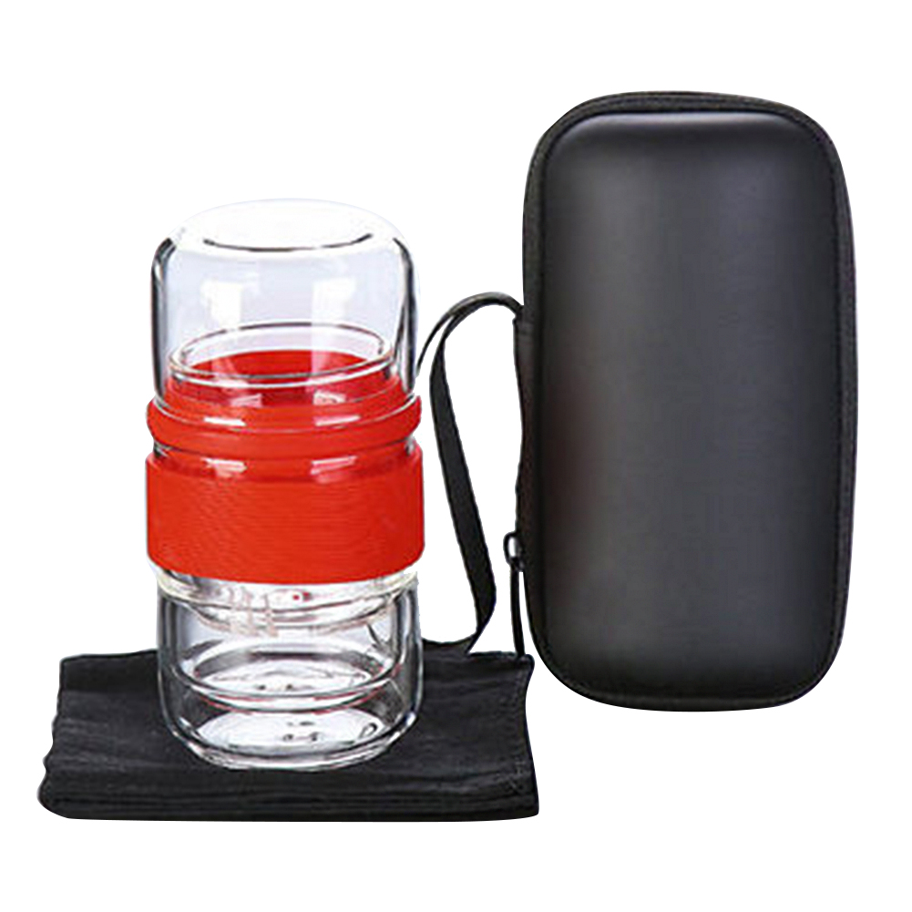 Kung Fu Office Pot Heat Resistant Gift Glass Portable Home Insulation With Storage Bag Drinkware Travel Tea Set Coffee Water