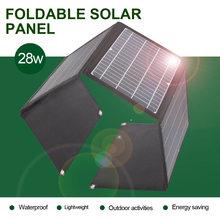 Chargeur solaire pliable 18v 28w, double port USB 5v DC, batterie 12v, panneau solaire 60w, offre spéciale