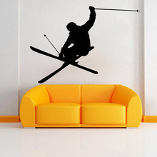 Skiing Wall Decal Ski Vinyl Stickers Skier Art Decal Ski Jumping Freestyle Sports Wall Decoration Wallpaper Murals  E112 ski jumping world cup 2019 zakopane qualification friday