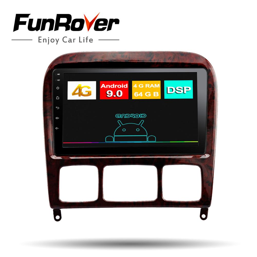 Funrover 8 core android9.0 2din car radio multimedia dvd <font><b>gps</b></font> player <font><b>For</b></font> <font><b>Mercedes</b></font> Benz S Class W220 W215 S280 S320 S350 S400 <font><b>S500</b></font> image