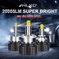 Hlxg 9012 HIR2 360 светодиодный Противотуманные фары H11 H1 H8 H9 H7 H4 светодиодный фар hb4 hb3 9005 9006 12V 6000K Turbo авто фары лампы