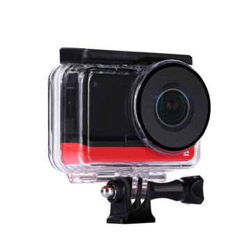 For Insta360 ONE R Dual-Lens 360 Panoramic Camera Lens Protective Shell Waterproof Dive Housing Case Cover