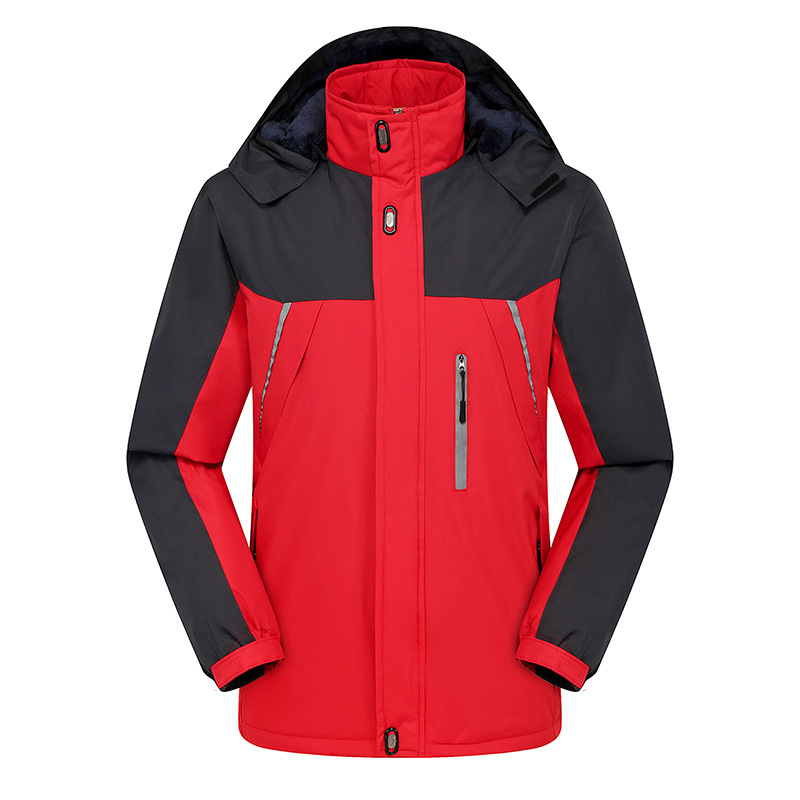 E-BAIHUI New Fashion Streetwear Warm Parkas Autumn Winter Men's Reflective Jackets Thick Warm Large Size Hooded Cotton Coat J002