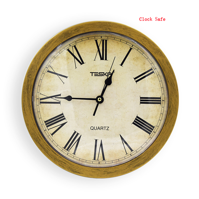 Wall Clock Safe Box Hidden Secret Storage Box For Cash Money Jewelry Security Clock Style Safe Anti Theft Stash Box For Valuable