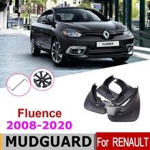Araba çamur flep çamurluk Renault Fluence için 2020-2008 çamurluk çamur Flaps Guard sıçrama Flap çamurluk aksesuarları 2012 2011 2010
