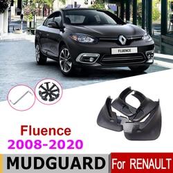 Car Mudflap Fender For Renault Fluence 2020-2008  Over Fender Mud Flaps Guard Splash Flap Mudguard Accessories 2012 2011 2010