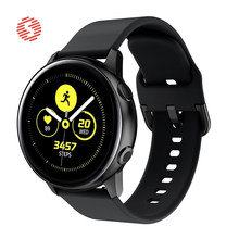 ShengOne Fluoroelastomer Band for Samsung Galaxy Watch Active Galaxy Watch 42MM Soft Silicone Strap for Gear Sport 20MM Width