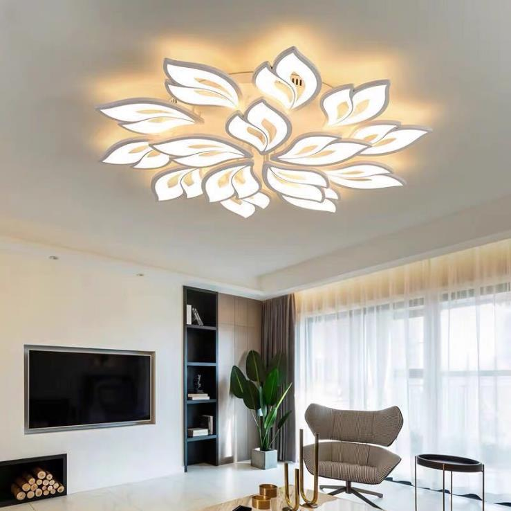 Новинка 2020, современный простой светодиодный потолочный светильник с акриловыми цветами, креативная потолочная лампа для спальни, гостино...