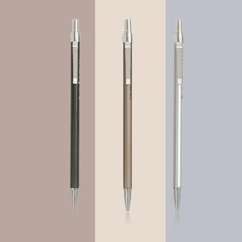 1pc 0.5mm 0.7mm Simple Metal Texture Mechanical Pencil Drafting Plastic Material Office Supplies - discount item  30% OFF Pens, Pencils & Writing Supplies