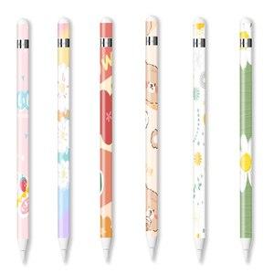 Для карандаша apple pencil 1 наклейки, устойчивые к царапинам ультратонкие нарисованные наклейки, сенсорный стилус, ручка с наклейками, нескользя...