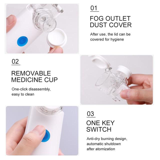 Cofoe handheld portable nebulizer medical nebulizer ultrasonic atomization child asthma adult mini usb charging 4
