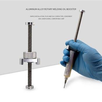 Distributeur de pâte à souder en alliage d'aluminium Booster d'huile de soudage rotatif pâte de Flux colle UV Booster d'huile verte pour masque de soudure BGA PCB|Ensembles d'outils d'alimentation| |  -