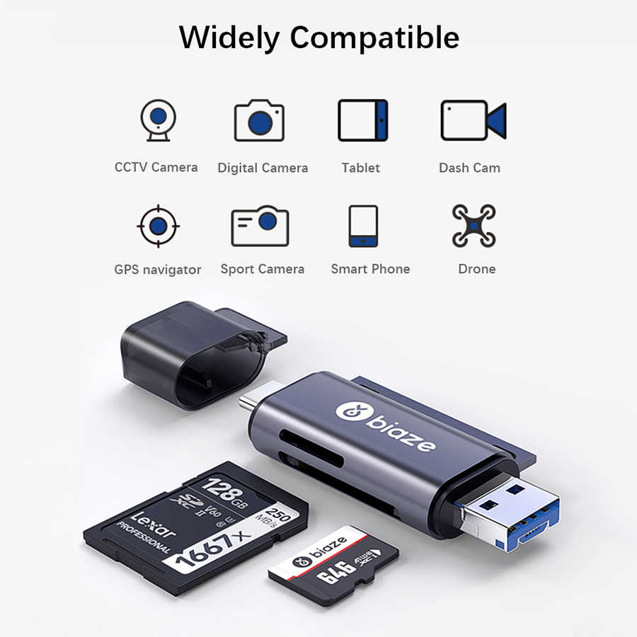 ZYZYZ USB 3.0 Multi Memory Card Reader 2 in 1 Adapter Cardreader for Micro SD//TF Microsd Readers Computer