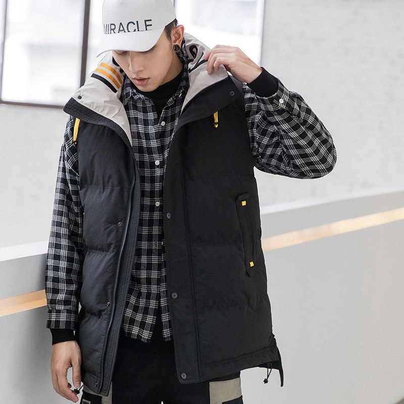 2019 sezon człowiek długa z bawełny kamizelka funkcja wiatr utrzymać ciepło luźny płaszcz