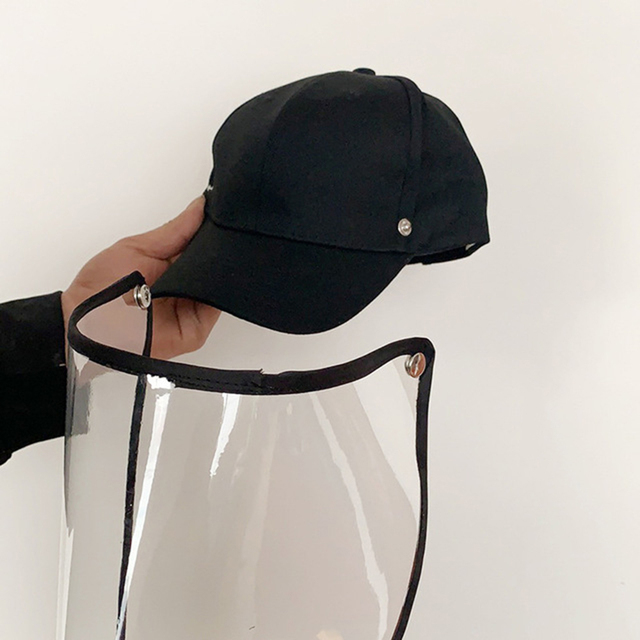 Anti Flu Protective Cap Mask Eye Protection Baseball Cap Unisex Removable Oil-Splash Proof Anti-saliva Face Cover 4