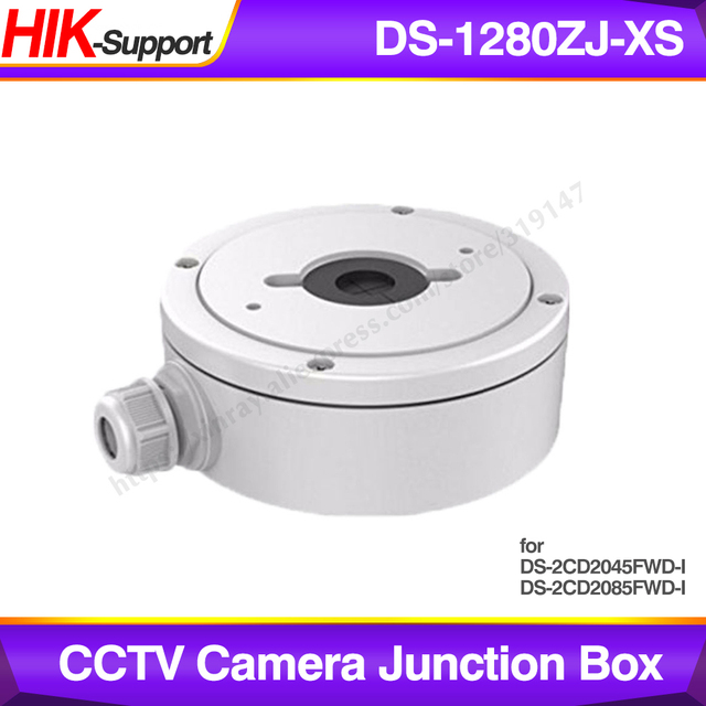 Hikvision Original CCTV Bracket DS 1280ZJ XS for DS 2CD2045FWD I DS 2CD2085FWD I IP Camera for Security Cameras Junction Box